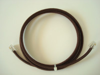 Country Junction Handset cord Brown cloth covered replacement
