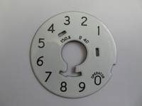 Numeric  Dial Plate Western Electric Porcelain
