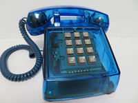 Vintage Clear Blue Western Electric 2500 Telephone works Collectors Edition