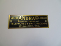 Julius Andrae Brass name plate