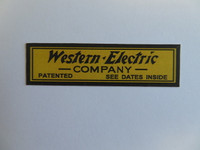 Western Electric 317 Wood wall telephone decal 1911-1915