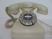 Original  1930s Argentina Ivory rotary telephone