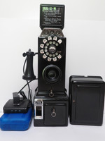 A Wireless, 2 Piece, 1940s  3-Slot, 5 Cent, Payphone w/ Coin controller