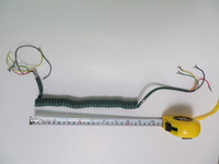 Olive Green coiled handset cord hardwire NOS