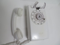 Western Electric 554  White telephone