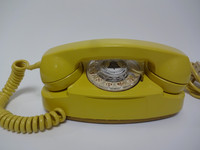 Yellow Princess Rotary Phone