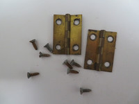 Wood wall phone hinge set  brass