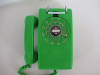 Lime Green 554 rotary  wall Telephone