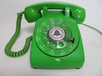 Lime Green 500 Rotary  desk phone