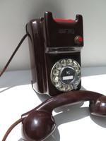 Mahogany Kellogg 1100 wall phone Rare bakelite