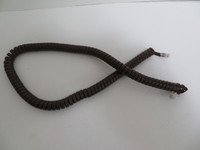 Brown Coiled handset cord Modular