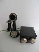Stair step candlestick telephone set