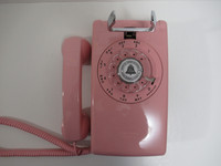 Pink Rotary Dial Wall  554 telephone