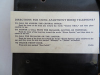 Apartment phone sign 653, 553