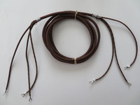 3 conductor Subset ringer cord  Brown cloth covered