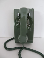 Western Electric 554 wall phone Moss Green