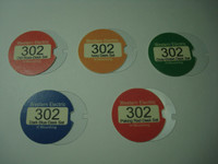 Colored 302 deskset number card set
