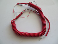 Bright Red Coiled handset cord 6ft