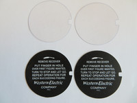 Western Electric Arrow Direction Dial Cards