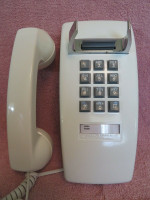 White2554 wall telephone Touch tone Western Electric