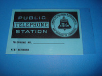 Payphone Flag card and plastic  3 slot pay phones upper card