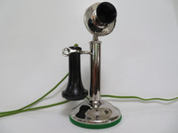 Western Electric Candlestick  Telephone  20-H With Knurled Transmitter nut assembly