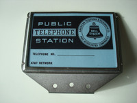 3  slot payphone top flag frame and card set
