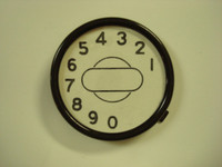 Dial center set with number card  4 pc set