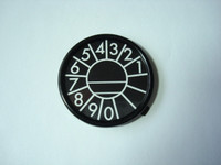 Dial center ring with number card  4pc set