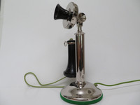 20AL nickel plated candlestick