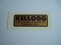 Kellogg water decal