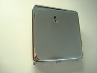3 slot Pay phone vault door in Chrome with lock and key Western Electric