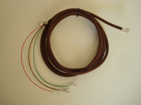 Premium Brown round cloth covered modular line cord, wall cord or bell cord with modular plug