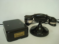Antique Automatic Electric Monophone High cradle telephone Desk set Working