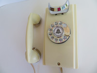 Ivory 354 Wall telephone Chrome edition