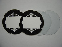 2 Automatic Electric number cards 2 acetate plastic disks
