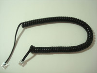 Black Modular coil handset cord  Desk / Wall phones