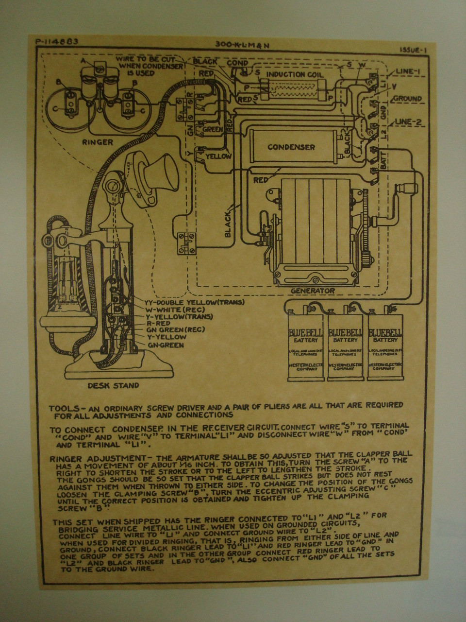 wooden magneto box and candlestick wiring diagram glue on old Phone Cable Wiring Diagram