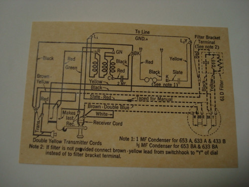 653 Metal Wall Phone Diagram Glue On