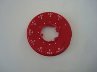 Western Electric 500 series dial face plate RED