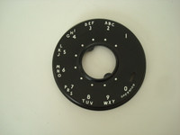 Western Electric 500 series  dial face plate  Black