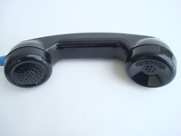 Payphone  Adjustable hearing aid handset  with armored cord