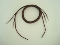 Brown cloth receiver cord  Pin/ Pin with ties