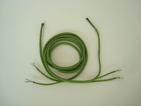 Western Electric Green cloth receiver cord   with ties