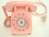 Antique original Pink Western Electric telephone model 500 set 12-1957 restored