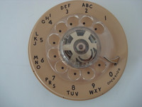 Beige 9C dial for 500 series telephones