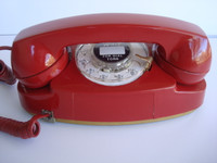 Red Princess telephone with light kit