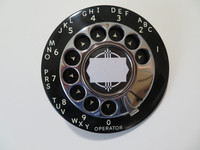 Automatic Electric Payphone dial with chrome fingerwheel