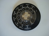 AE 3 slot payphone dial and Shroud  NOS (new old stock )