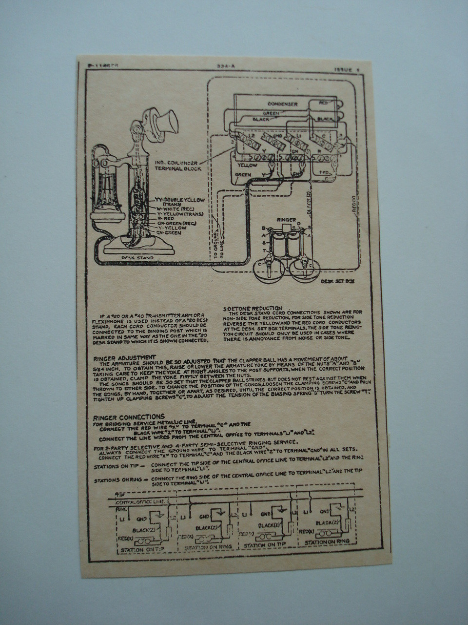 Western Electric 334A ringer subset box wiring diagram glue on | Old on old telephone diagram, western electric telephone manuals, western electric wall phone, copper network diagram, western electric telephone parts, western electric payphone schematic, western electric telephone transformer, western electric network diagram, western electric telephones history, western electric 202, western electric antique telephones, western electric telephones wall mount, western plow solenoid wiring, western electric telephone line, western electric telephone repair, natural gas meter parts diagram, western electric telephone identification, phone diagram, utility pole diagram,